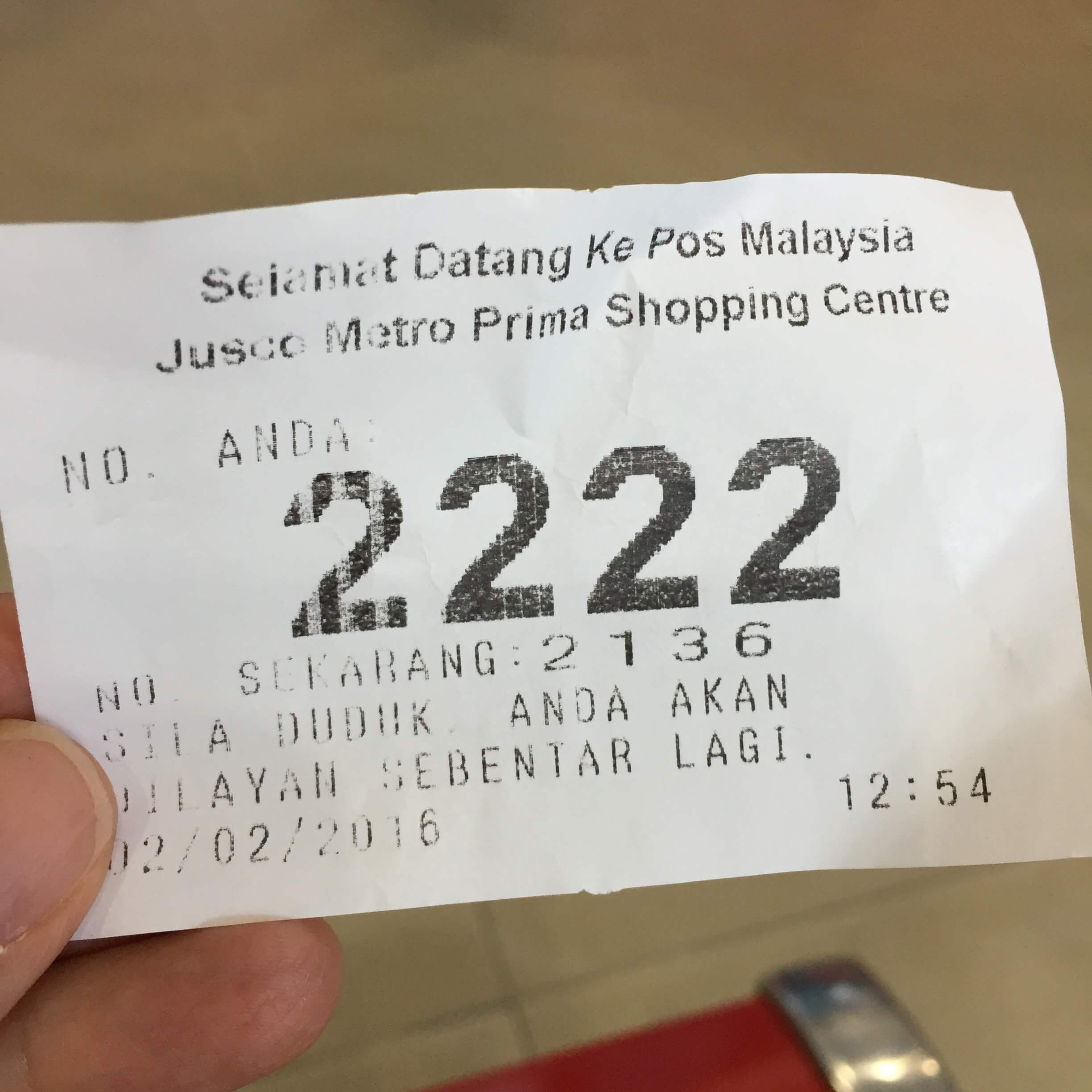 2 Hours Waiting At Local Post fice