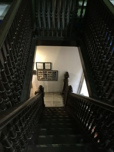 Staircase up to the guesthouse
