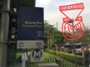 Turn left from Mrt Chatuchak Park, exit 2