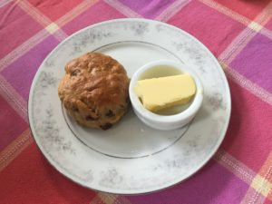 Scone with butter