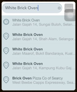 Will the real White Brick Oven please stand up?