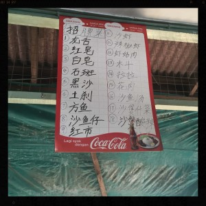 No menu proper. This is all it is, all in Chinese!