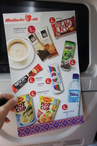 Limited menu for our flight