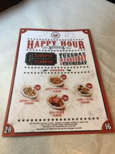 Crab Factory's Happy Hour Specials