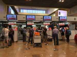Short queue at check-in counters at Don Mueang