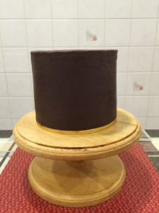 Outer layer of chocolate ganache