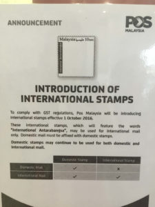 Hence, the introduction of international stamps
