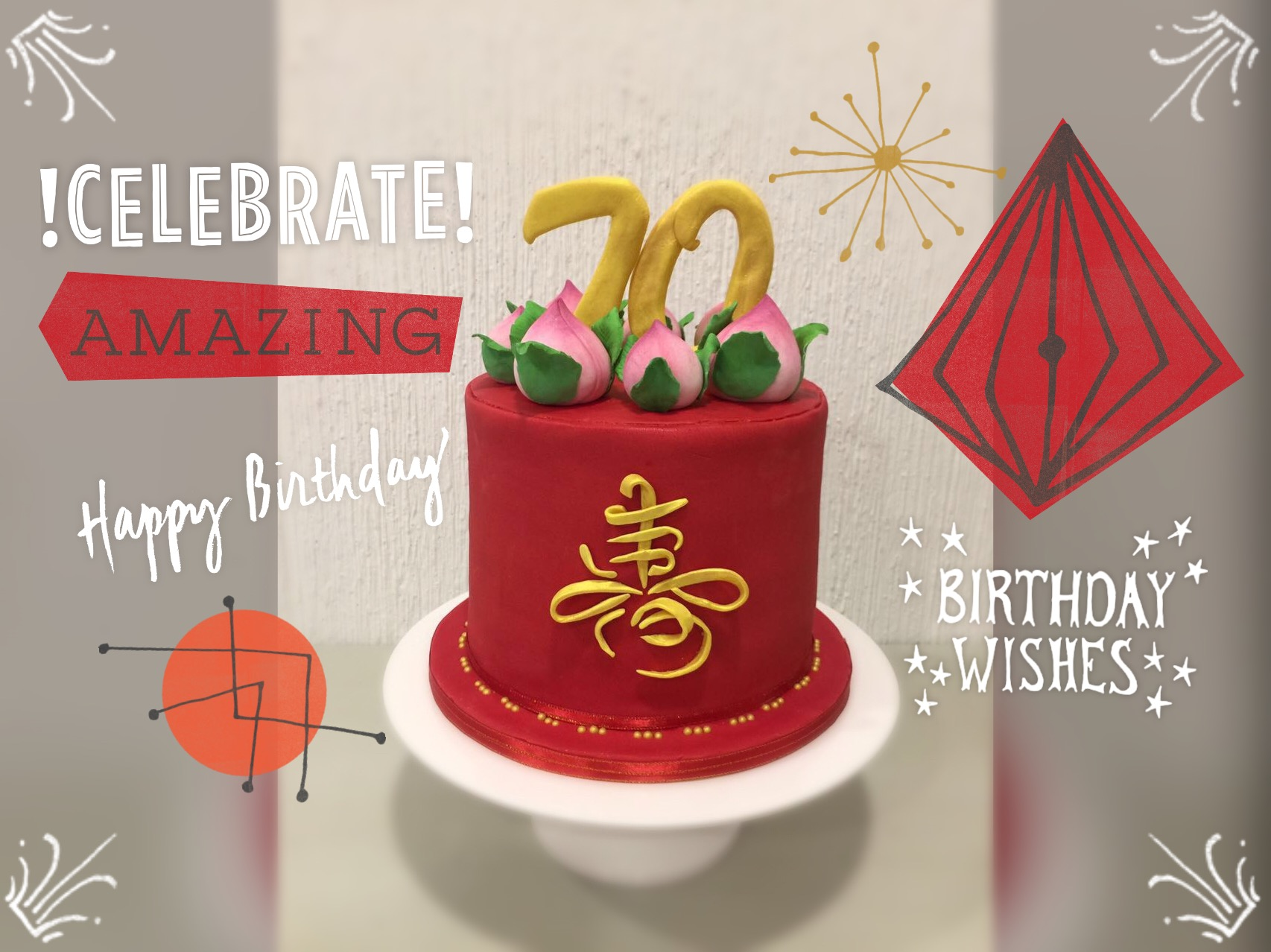 That Not Your Ordinary 70 Years Old Birthday Cake