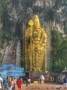 Be prepared for a less than perfect photo of the Lord Murugan statue