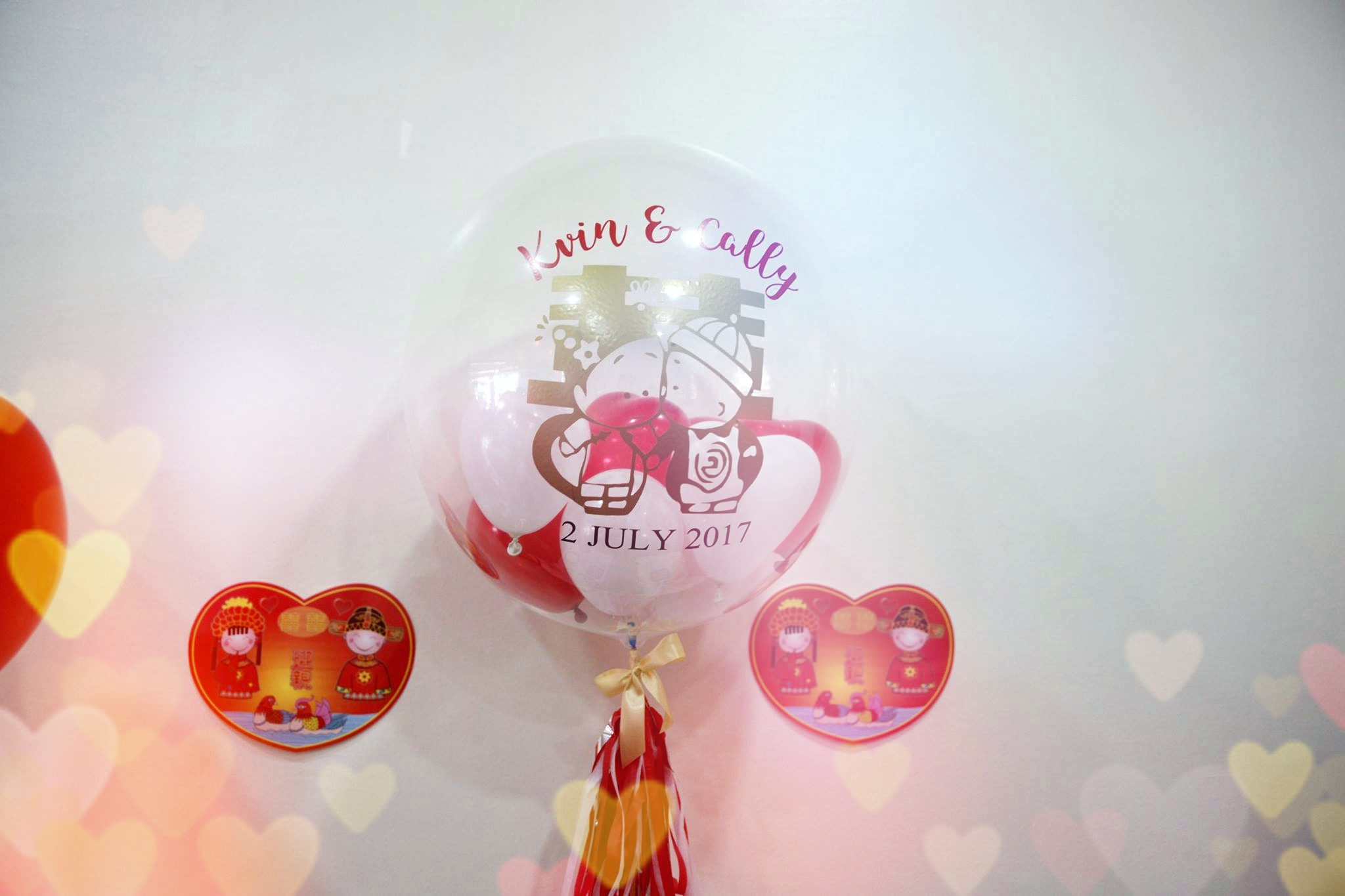How to jazz up a wedding tea ceremony not your typical for Balloon decoration for wedding malaysia